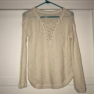 Crochet sweatshirt pullover long sleeve sweater